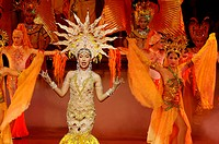 Women doing dance performing on stage during Alcazar Show at Pattaya , Thailand , South East Asia