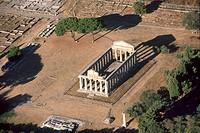 Italy, Campania, Paestum, tempio di Atena