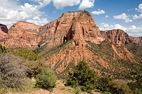 Red sandstone mountains of the Kolob canyon , Zion canyon national park , U.S.A. United States of America