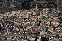 Italy, Basilicata, Matera, aerial view