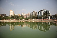 Bramhala lake and surrounding area , Thane , Maharashtra , India