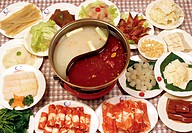 close_up of Chinese food dishes