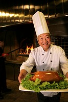 Chinese Cook Cooking Beijing Duck