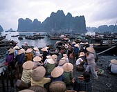 Vietnam, Halong Bay. Market