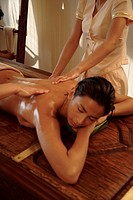 Abhyanga Massage ayurveda treatment at the Spa at Mandarin Oriental Bangkok, Bangkok, Thailand