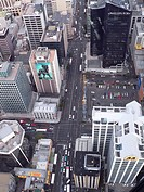 Auckland, New Zealand, downtown, aerial view