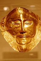 Greece, Athens, Agamemnon gold mask, National arch. museum