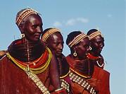 Africa, Kenya, Rendille women