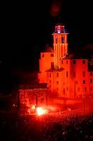 Italy, Liguria, Camogli, San Fortunato Feast fireworks
