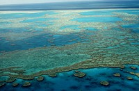 Australia, Queensland, Aerial view of the great barrier reef, near the Hayman Island
