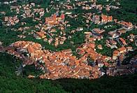 Italy, Basilicata, Maratea from S. Biagio Mount