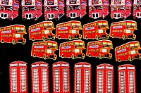 London Souvenir Fridge Magnets, Portobello Road, Notting Hill, London, England, UK