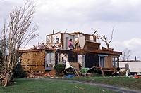 USA, Texas, Lancaster, Tornado damage