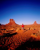USA. Man in S.W. Desert, Western States, Navajo Tribal Park No Property Release
