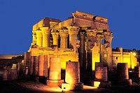 Egypt, Kom Ombo temple at night