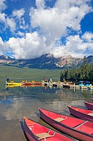 Canada, Alberta, Jasper National Park, Pyramid Lake
