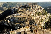 Italy, Sicily, Ibla Ragusa, the village