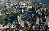 USA, Massachusetts, Boston, Boston Common, aerial view