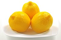 Lemons on dish, still life