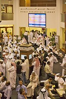Investors at the Dubai Financial Market, the local Stock Exchange. Dubai,United Arab Emirates