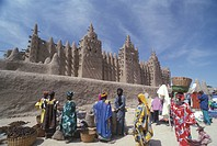 Mali, Djenné, The Great Mosque and the market