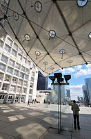 Grande Arche de la Defense, Ark of Defense. 1989. Danish architect Otto von Spreckelsen and danish engineer Erik Reitzel. Business district of la Defe...