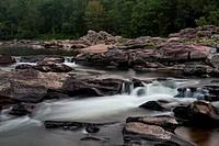 Water falling from rocks in a river, Cossatot Falls, Ouachita Mountains, Cossatot River, Arkansas, USA