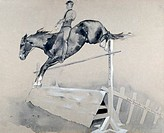 Jump Frederic Remington 1861_1909 American David David Gallery, Philadelphia