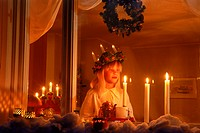 December 13th in Sweden is Saint Lucia Day when children wear coronets of candles
