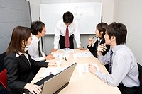 Group of business people having meeting