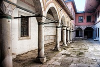 Courtyard of the Concubines, the Harem and the Sultan's Private Apartments, topkapi palace museum, Istanbul, Turkey