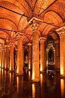 Basilica Cistern, Sunken Palace, Sunken cistern, forest of columns, Istanbul, Turkey