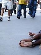 Homeless, Paulista avenue, São Paulo, Brazil
