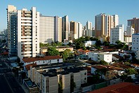 Buildings, houses, city, Fortaleza, Ceará, Brazil