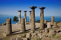 Turkey, Behramkale, Assos, ruins of the Greek Temple of Athena