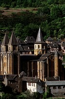 Midi_Pyrenees, Aveyron, Conques, Church
