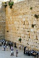 Israel, Jerusalem, western wailing wall