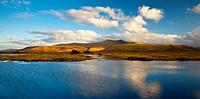 Wales, Powys, Brecon Beacons. Pen y Fan & Corn Du mountains from Mynydd Illtyd Common in the Brecon Beacons.