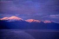 USA,ALASKA,INSIDE PASSAGE, PRINCE OF WALES ISLAND, SUNSET