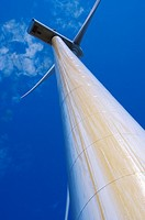 Wind turbine in the Wind farm of Sofuentes in Sos del Rey Catolico, Saragossa, Aragon, Spain