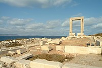 Greece, Cyclades, Naxos, Chora Naxox,Apollo Temple