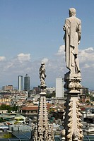 Italy, Lombardy, Milan. Spires of the Duomo