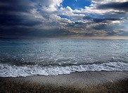 Italy, Liguria, Noli, sea and sky