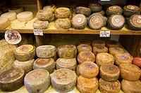 Italy, Tuscany, Pienza, cheeses