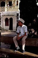 COMORO ISLANDS, GRAND COMORE, MORONI, STREET SCENE, LOCAL MOSLEM BOY