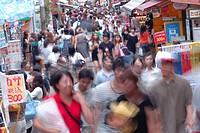 Japan, Tokyo, Harajuku, Takeshita Street, People.