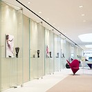 BOODLES FLAGSHIPSTORE, EVA JIRINCA, LONDON, 2008, VIEW OF SHOPFLOOR WITH WALL DISPLAYS OF JEWELLERY