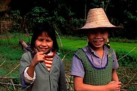 ASIA, NORTH VIETNAM, HOA BINH, LOCAL FARM CHILDREN