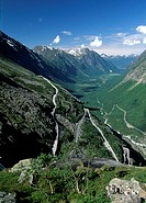 Norway, Trollstigen, aerial in the pass