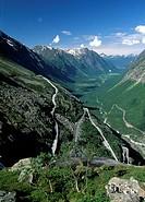 Norway, Trollstigen, aerial in the pass